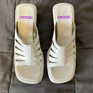 Cloud 9 by Nine West White Sandals